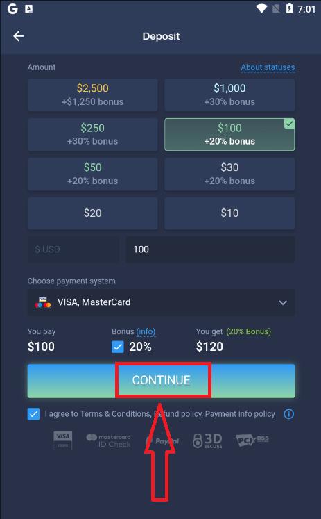 Como abrir uma conta e sacar dinheiro na ExpertOption