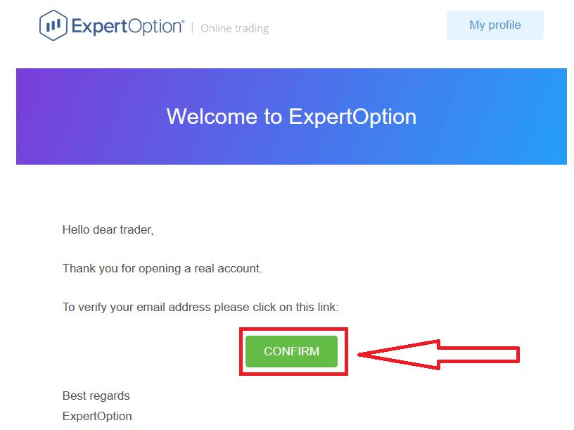 Como registrar e negociar opções binárias em ExpertOption