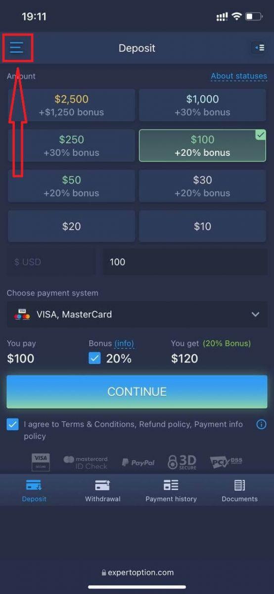 Como fazer login e sacar dinheiro do ExpertOption