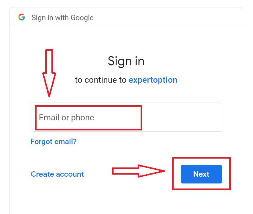 Como se inscrever e fazer login na conta ExpertOption